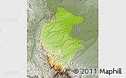 Physical Map of Vidin, semi-desaturated
