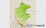 Physical Map of Vidin, shaded relief outside