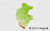 Physical Map of Vidin, single color outside