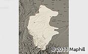 Shaded Relief Map of Vidin, darken