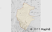 Shaded Relief Map of Vidin, desaturated