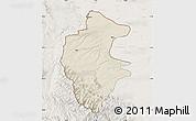 Shaded Relief Map of Vidin, lighten