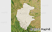 Shaded Relief Map of Vidin, satellite outside