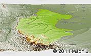 Physical Panoramic Map of Vidin, semi-desaturated