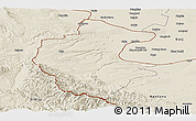 Shaded Relief Panoramic Map of Vidin