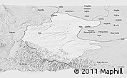 Silver Style Panoramic Map of Vidin