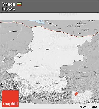 Gray 3D Map of Vraca