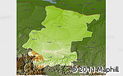 Physical 3D Map of Vraca, darken