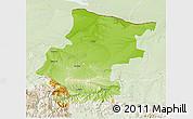 Physical 3D Map of Vraca, lighten