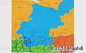 Political 3D Map of Vraca