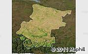 Satellite 3D Map of Vraca, darken