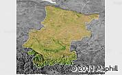 Satellite 3D Map of Vraca, desaturated