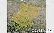 Satellite 3D Map of Vraca, semi-desaturated