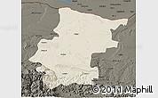 Shaded Relief 3D Map of Vraca, darken