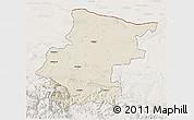 Shaded Relief 3D Map of Vraca, lighten