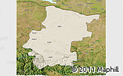 Shaded Relief 3D Map of Vraca, satellite outside