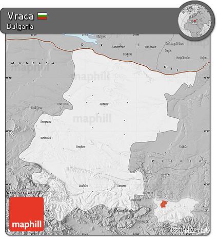 Gray Map of Vraca