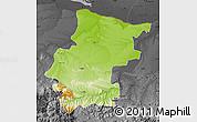 Physical Map of Vraca, darken, desaturated