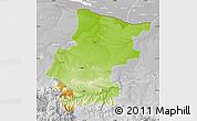 Physical Map of Vraca, lighten, desaturated