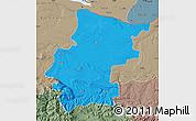 Political Map of Vraca, semi-desaturated