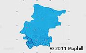 Political Map of Vraca, single color outside