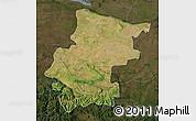 Satellite Map of Vraca, darken
