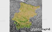 Satellite Map of Vraca, desaturated