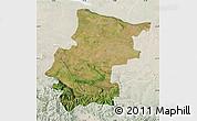 Satellite Map of Vraca, lighten
