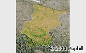 Satellite Map of Vraca, semi-desaturated