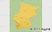 Savanna Style Map of Vraca, single color outside