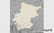 Shaded Relief Map of Vraca, darken, desaturated
