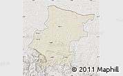Shaded Relief Map of Vraca, lighten, semi-desaturated