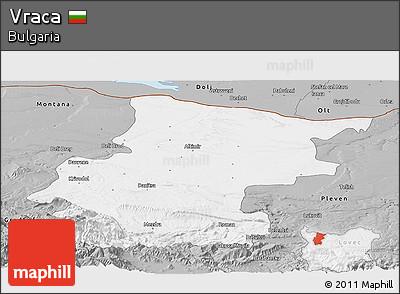 Gray Panoramic Map of Vraca