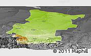 Physical Panoramic Map of Vraca, darken, desaturated