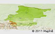 Physical Panoramic Map of Vraca, lighten