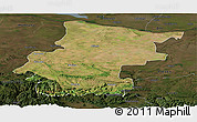 Satellite Panoramic Map of Vraca, darken