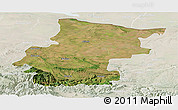 Satellite Panoramic Map of Vraca, lighten