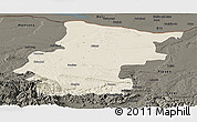 Shaded Relief Panoramic Map of Vraca, darken