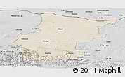 Shaded Relief Panoramic Map of Vraca, desaturated