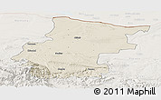 Shaded Relief Panoramic Map of Vraca, lighten