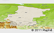 Shaded Relief Panoramic Map of Vraca, physical outside