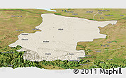 Shaded Relief Panoramic Map of Vraca, satellite outside