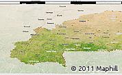 Satellite 3D Map of Burkina Faso, lighten