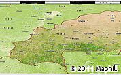 Satellite 3D Map of Burkina Faso, physical outside, satellite sea
