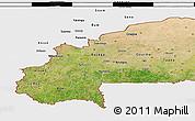Satellite 3D Map of Burkina Faso, single color outside