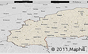 Shaded Relief 3D Map of Burkina Faso, desaturated