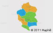 Political 3D Map of Bam, single color outside