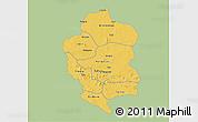 Savanna Style 3D Map of Bam, single color outside