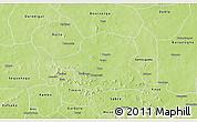Physical 3D Map of Kongoussi