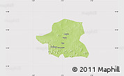 Physical Map of Kongoussi, cropped outside